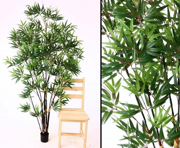 Bambus Kunstbaum mit dunklen Stämmen Höhe 180cm
