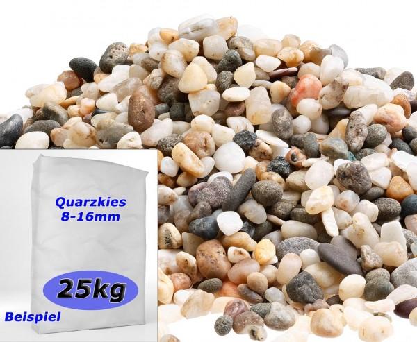 Zierkies Quarz bunt mit Durch. 8 bis 16mm, Sack mit ca. 25kg
