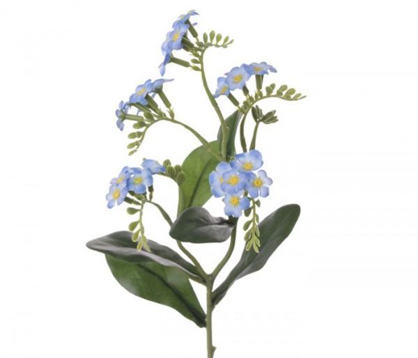 Kunstblume Vergissmeinnicht blau weiße Blüten Höhe 36cm