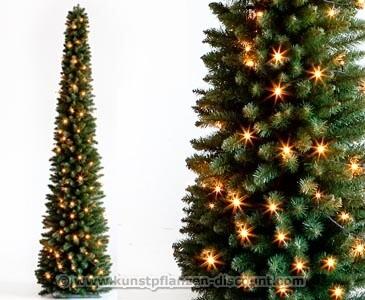 Weihnachtsbaum Säule mit LED Beleuchtung, Höhe 210cm