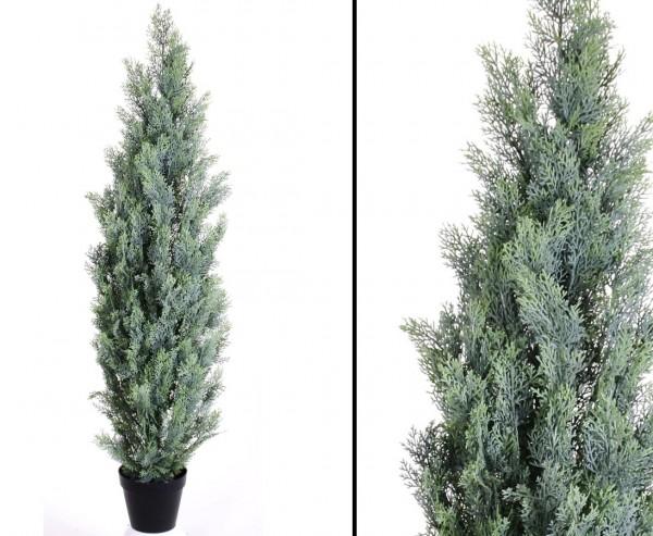 Zypresse, Kunstbaum mit Zementfuß, Höhe ca. 180cm, Breite ca. 35cm