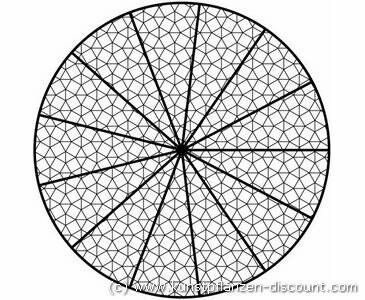 Dekonetz / Lichtsegel, Kreis 6m x 6m