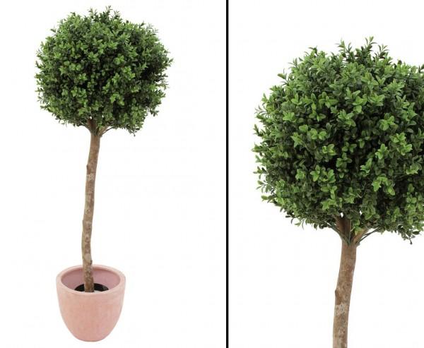 Buchsbaum künstlich mit 1188 Blätter aus PE Material, Höhe 110cm, Durch. 40cm
