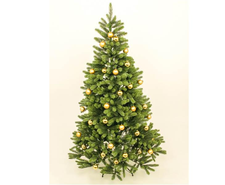 Kugel Für Tannenbaum.Künstlicher Tannenbaum 180cm Mit Goldenen Kugeln Und Spritzguss Nadeln B1