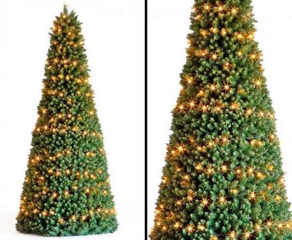 Weihnachtsbaum mit LED Beleuchtung Pyramide Höhe 210cm