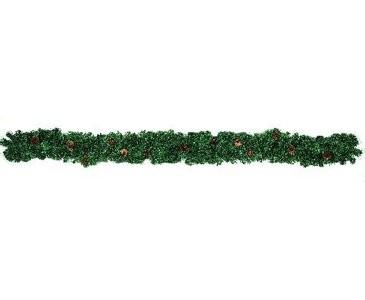 Künstliche Edeltannengirlande, mit Zapfen, 270cm