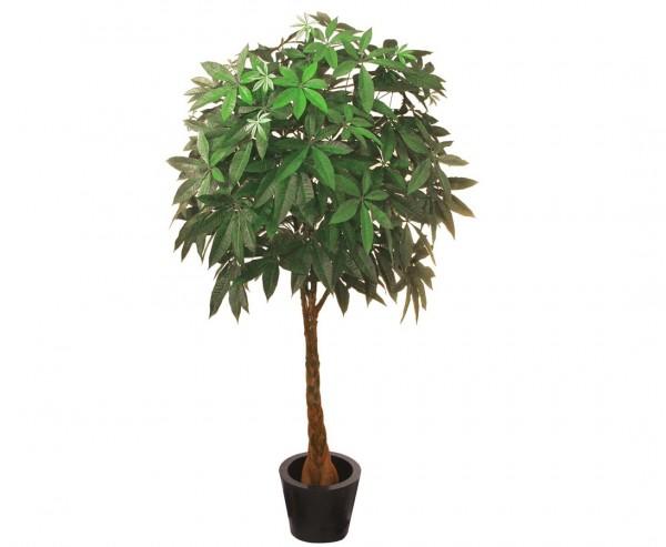 Pachira, Kunstbaum mit 667 Blätter in Kugelform, Höhe 180cm