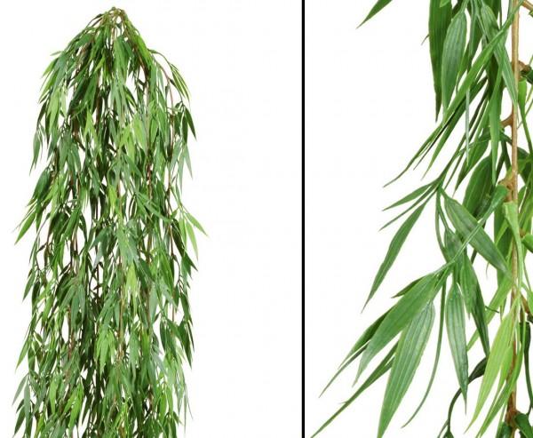 Bambus Kunstpflanzen Hänger 80cm mit PE Blätter