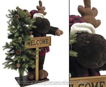 Deko Figur Weihnachtselch mit einer Höhe von 100cm
