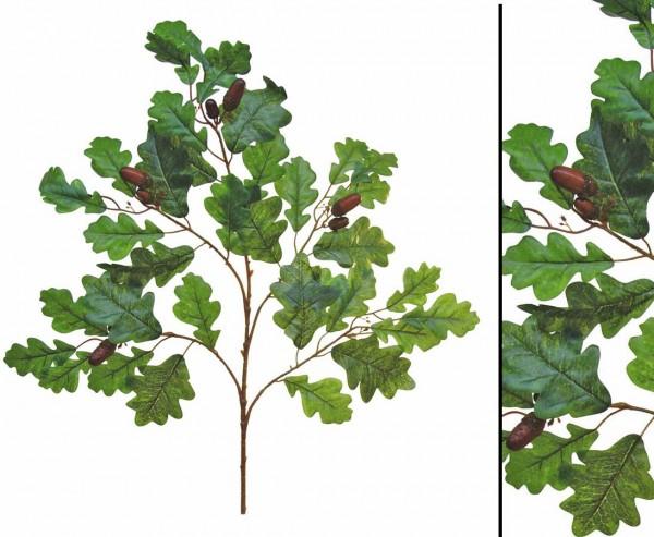 Eichenblätter mit Eicheln, Set mit 6 Zweigen, Länge 60cm
