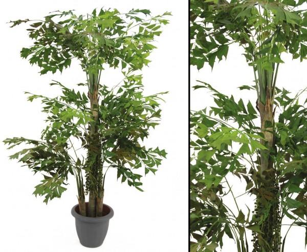 Fishtail-Palmbaum Kunstbaum mit drei Stämme Höhe ca. 295cm