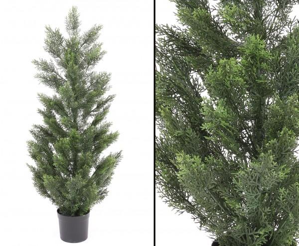 Zypressen Kunstbaum wetterfest 120cm mit 79 UV-sichere Nadelbündel