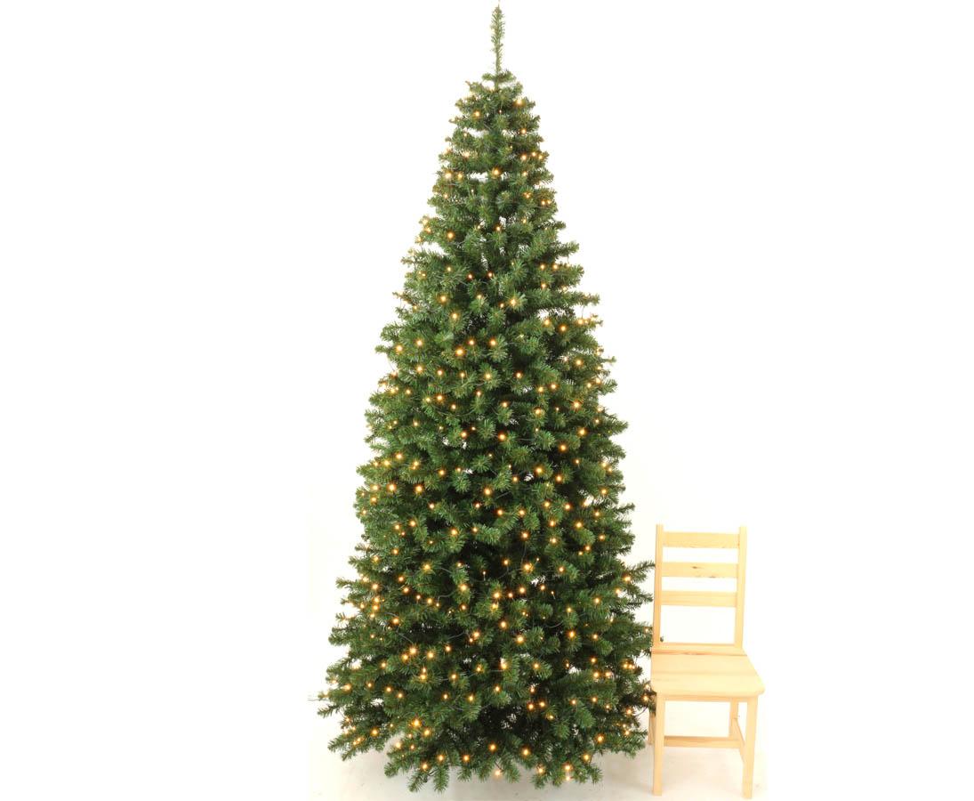 Künstlich Weihnachtsbaum.Weihnachtsbaum Künstlich Georgia 240cm Mit 288 Leds 950 Zweige Mit Grünen Pvc Nadeln B1