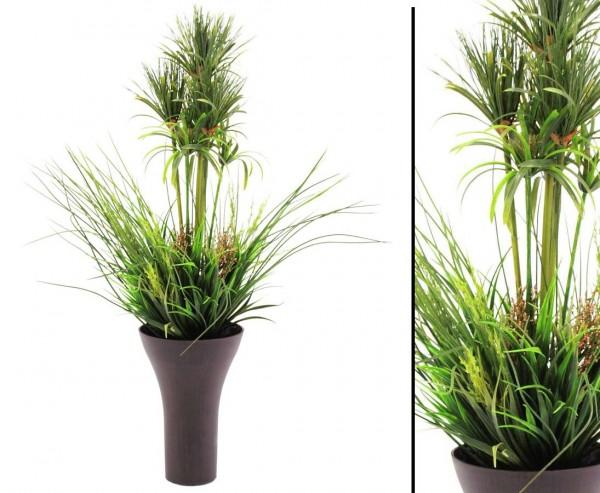 Arrangement mit verschiedene Gräsern aus Kunststoff Höhe ca. 90cm