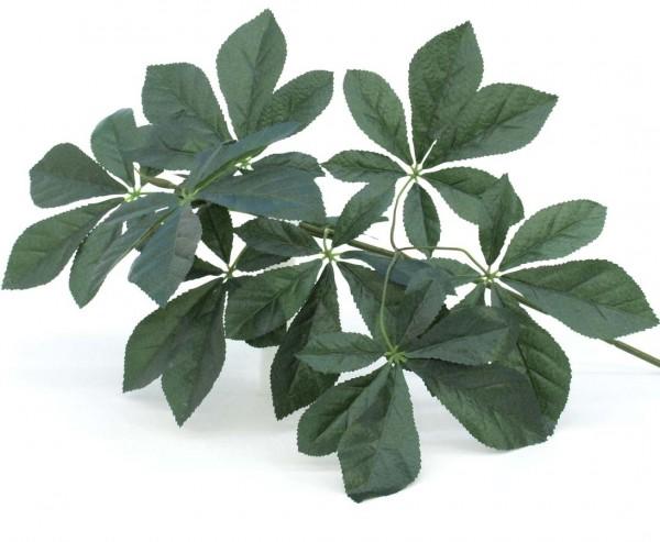 Kastanienzweig, natürlich sturkturierte 54 Blättern, Länge 60cm