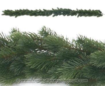 Künstliche Tannen Girlande mit PE Nadeln, Länge 180cm