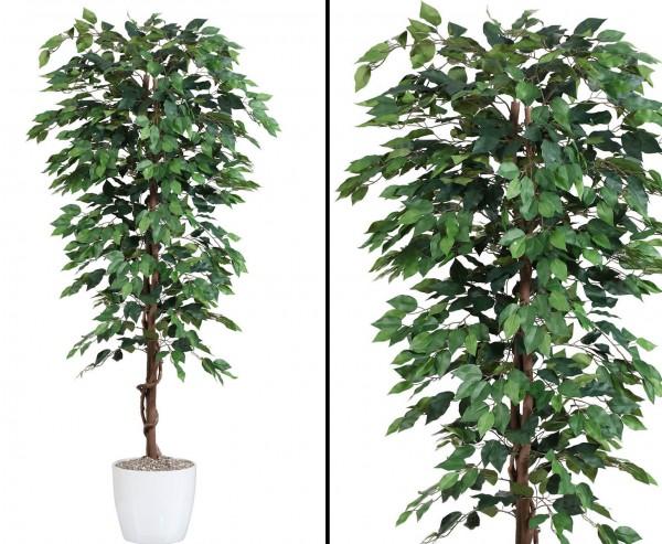 Kunstbaum Ficus Benjamini grün 1.074 Blätter Höhe 150cm