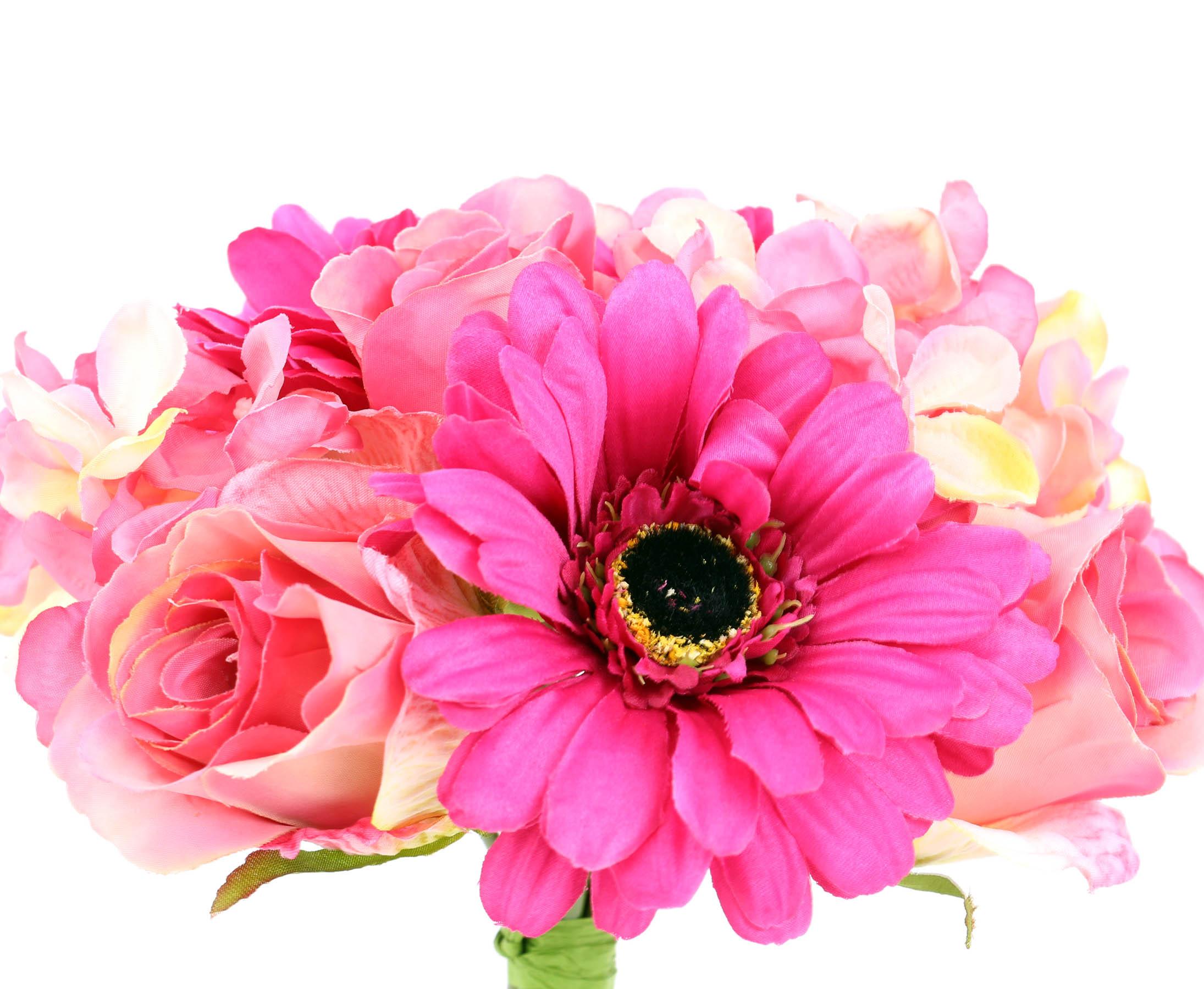 mixbouquet mit 10 kunstblumen rosa farbig online kaufen. Black Bedroom Furniture Sets. Home Design Ideas