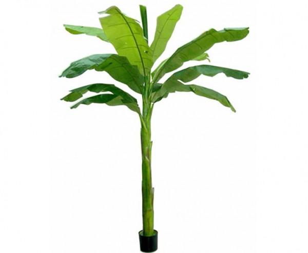 Bananen Kunstpalme grün UV-sicher mit 210cm und 11 Blättern