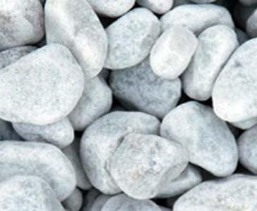 Zierkies Carrara weiss, Durch. 16 bis 25mm, Sackware mit ca. 19kg