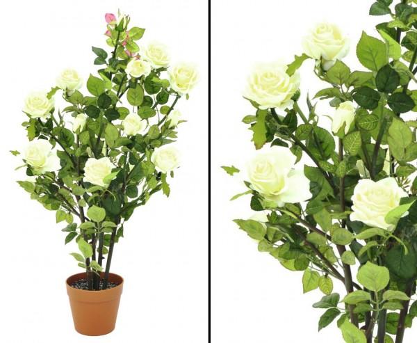 Rosenstrauch Kunstblumen cremefarbig Höhe ca. 86cm