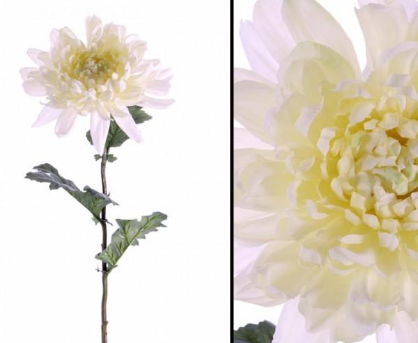Künstliche Chrysantheme weiß, Seidenblume mit 75cm