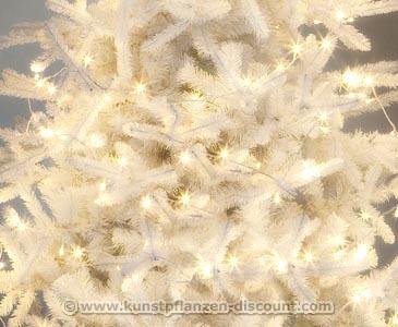 Tannenbaum Weiss Led.Künstlicher Led Weihnachtsbaum Mit Weißen Nadeln Höhe 180cm