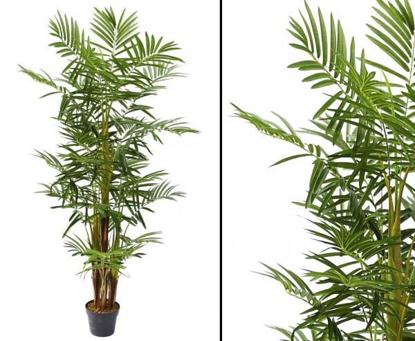 Areca Palme mehrstämmig Kunstpalme mit 25 Palmwedel 160cm