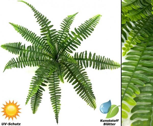 Wetterfeste Farn Kunstpflanzen mit 18 UV-sichere PE Blattzweige Durchmesser 60cm