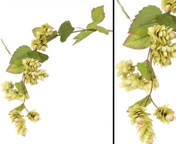 Hopfen Zweig, Kunstpflanze mit einer Länge von 90cm