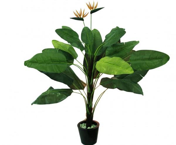 Tralizie Kunstpflanze Staude mit 22 Blätter, Höhe ca. 230cm