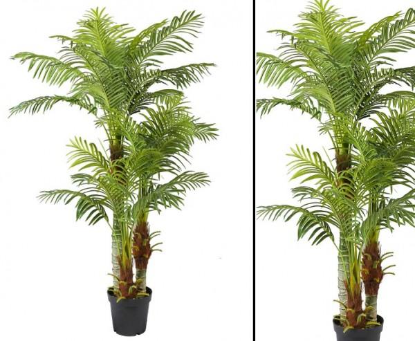 Kunstpalme Areca Hawaii 180cm mit 30 Wedeln und 3 Stämme