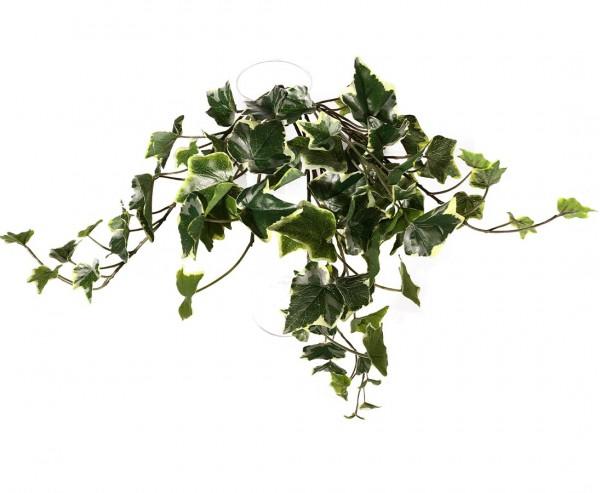 Efeuhänger grün weiß mit 80 Blätter ca. 45cm