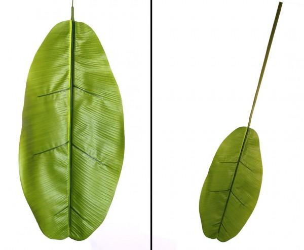 Bananenblatt 130cm aus Textilfaser mit Wedel ca. 60x29cm