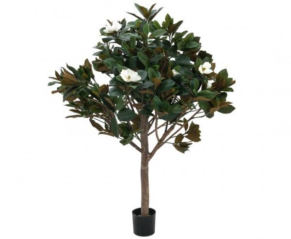 Magnolienbaum künstlich mit Naturstamm 12 Blüten Höhe 150cm