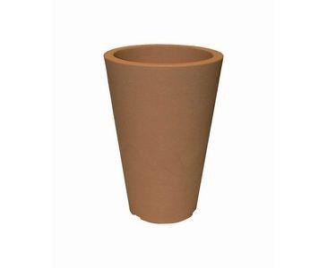 Blumentopf Kunststoff, Tonfarben, A1 Durch. 28cm, Höhe 45cm