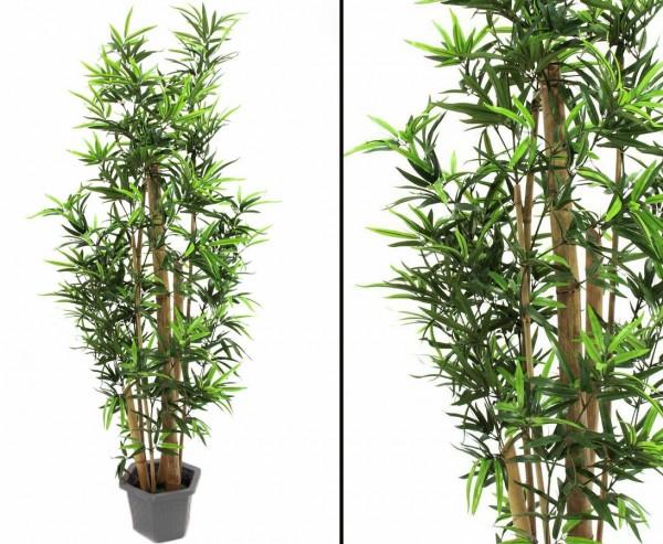 Bambus Kunstbäume mit dicken Naturstämmen, Höhe ca.150cm