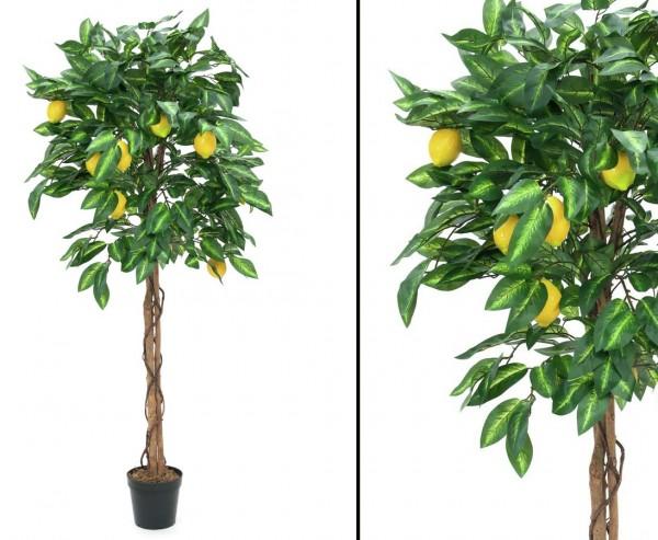 Zitronenbaum künstlich mit 1046 Blätter und 40 Früchte Höhe 180cm