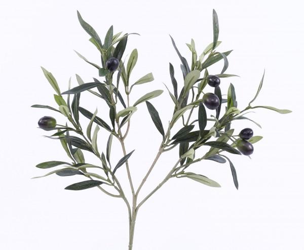 Kunstpflanze Olivenzweig mit 6 Oliven Länge ca. 53cm