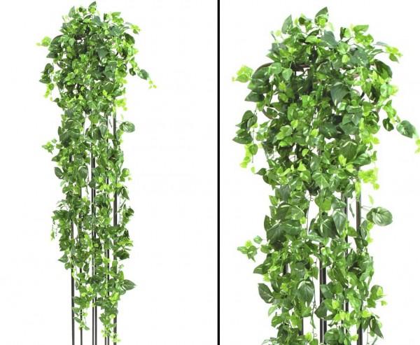 Pothosbuschranke, Kletterpflanze Classic, grün-gelb, 1365 Blätter, Länge 160cm