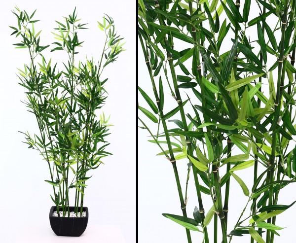 Bambus Arrangement in Dekoschale schwarz mit 120cm Höhe