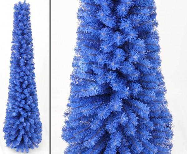 Künstliche Weihnachtsbaum Säule Kasan blau 180cm mit PVC Nadeln in B1