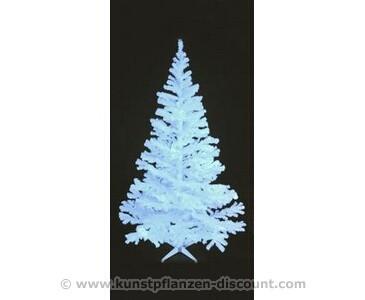 Künstlicher Tannenbaum glitzerweiß und UV aktiv inkl. Ständer