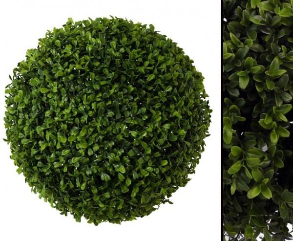 Buchskugel Durchmesser ca. 33cm und 462 Blätter auf PE Gitterkugel