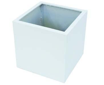 Blumenkübel Kunststoff, weiß glänzend, quadratische Form mit Höhe und Durch. von ca. 50cm