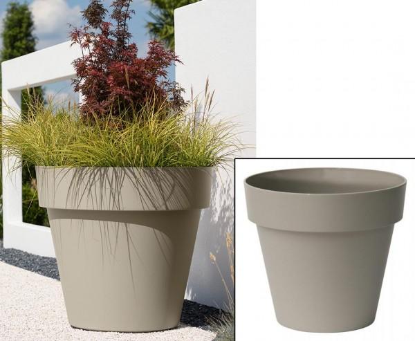 Gut und günstiger Übertopf sandfarben Höhe 27cm und Ø 30cm passend für fast alle Kunstpflanzen