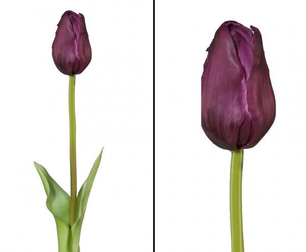 """Kunstblume """"Bonny2"""" violette farbige Tulpe mit 46cm"""