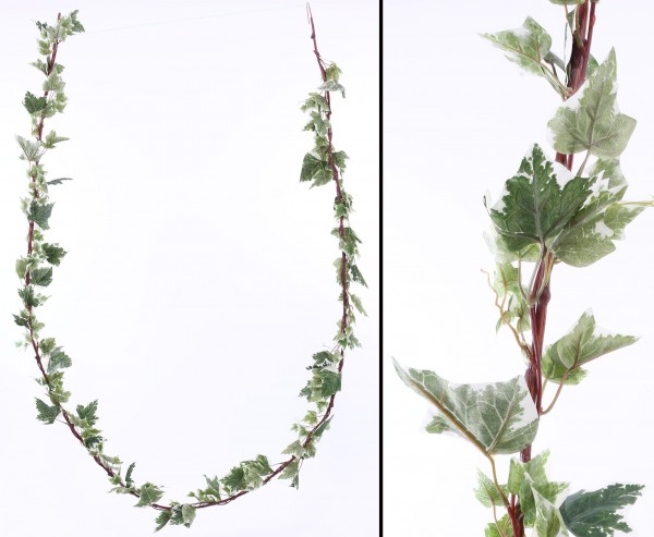 Künstliche Efeugirlande grün-weiße Blätter mit 350cm