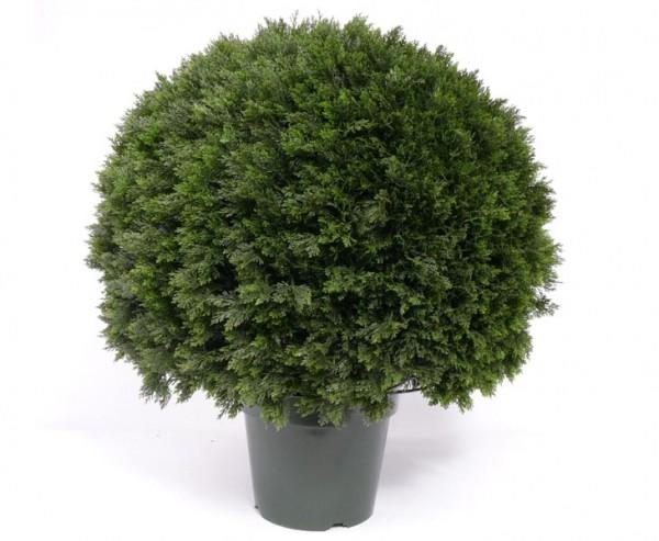Zeder Kugel, Kunstpflanze mit ca.2341 Blätter, Höhe ca. 75cm, Durch. ca. 60cm