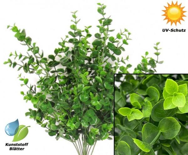 Wetterfester künstlicher Eukalyptus mit 12 UV-sichere PE Blattzweige 43cm